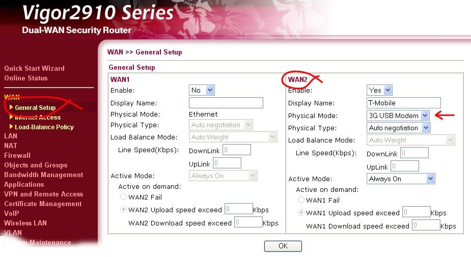Vigor Router FAQ - 3G Data Setup
