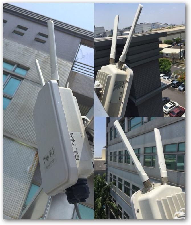 DrayTek VigorAP 902R Outdoor AP Installed