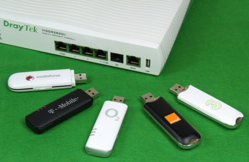 3G Modems for the DrayTek Vigor 2820 compatible with Vodafone, 3, EE, Virgin Mobile, Orange, T-Mobile and O2