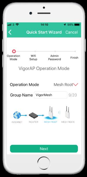 Aplicativo DrayTek Wireless